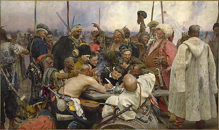Запорожці пишуть листа турецькому султану